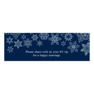Winter Snowflakes Wedding Questionnaire Mini Business Card