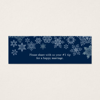 Winter Snowflakes Wedding Questionnaire Mini Business Card