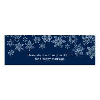 Winter Snowflakes Wedding Questionnaire Pack Of Skinny Business Cards