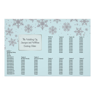 Winter Snowflakes Wedding Seating Chart