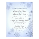 Winter Snowflakes/ Winter Ice Blue Personalized Announcement