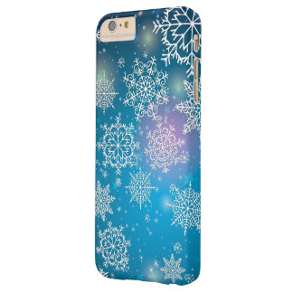 Winter Snowing Flakes Christmas Barely There iPhone 6 Plus Case