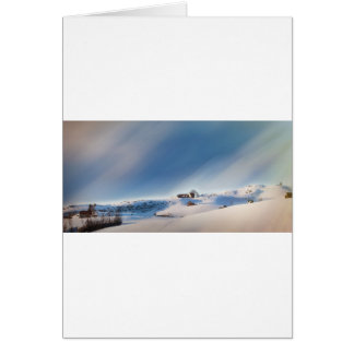 winter snowing landscape card