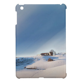 winter snowing landscape iPad mini case
