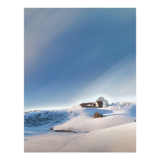winter snowing landscape letterhead