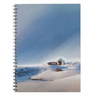 winter snowing landscape notebooks