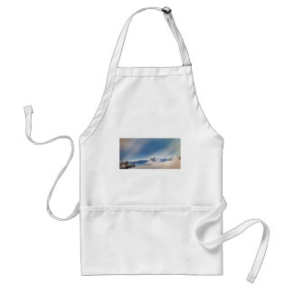 winter snowing landscape standard apron