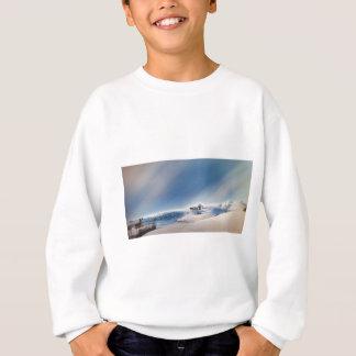 winter snowing landscape sweatshirt