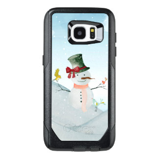 Winter Snowman animal snow animal illustration OtterBox Samsung Galaxy S7 Edge Case