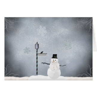 Winter Snowman Greetings Card