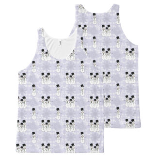 Winter Snowman Pattern All-Over-Print Tank Top