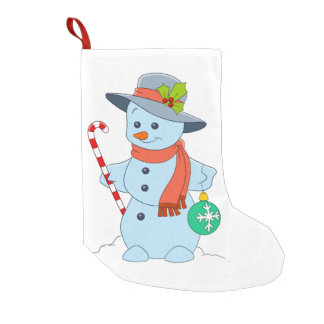 Winter Snowman Small Christmas Stocking