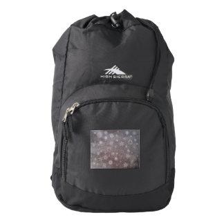 Winter snowy dark day background - 3D render Backpack
