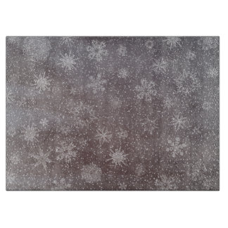 Winter snowy dark day background - 3D render Boards