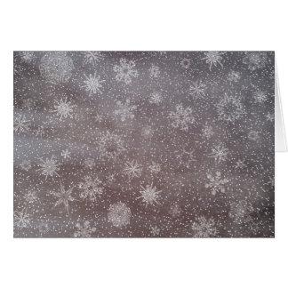 Winter snowy dark day background - 3D render Card