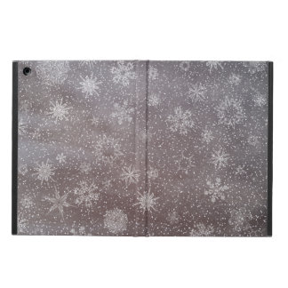 Winter snowy dark day background - 3D render Case For iPad Air