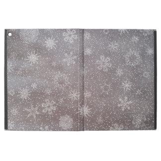 """Winter snowy dark day background - 3D render iPad Pro 12.9"""" Case"""