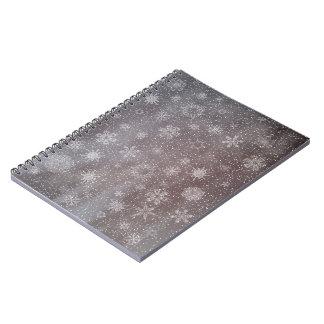 Winter snowy dark day background - 3D render Notebooks