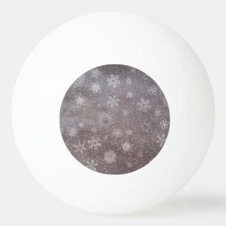 Winter snowy dark day background - 3D render Ping Pong Ball