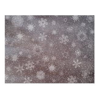 Winter snowy dark day background - 3D render Postcard