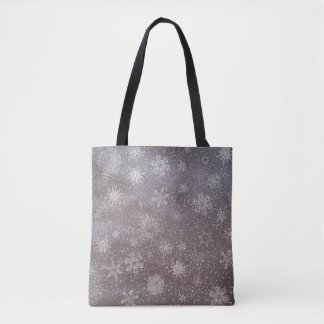 Winter snowy dark day background - 3D render Tote Bag