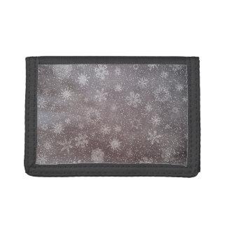 Winter snowy dark day background - 3D render Tri-fold Wallets