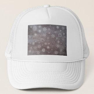 Winter snowy dark day background - 3D render Trucker Hat