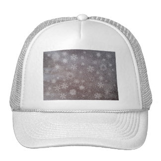 Winter snowy dark day background - 3D render Trucker Hat
