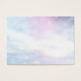 Winter snowy day background - 3D render Business Card