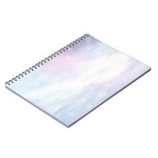 Winter snowy day background - 3D render Notebooks