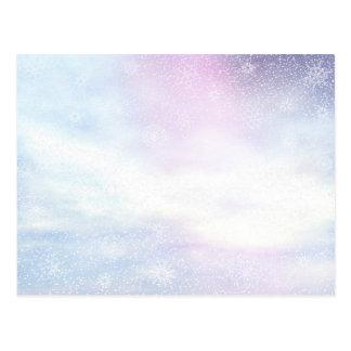 Winter snowy day background - 3D render Postcard