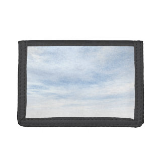 Winter snowy day background - 3D render Trifold Wallets