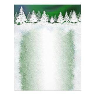 Winter snowy holiday template letterheads custom letterhead