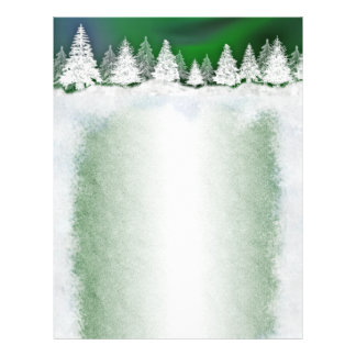 Winter snowy holiday template letterheads letterhead