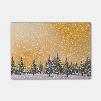 Winter snowy landscape post-it® notes