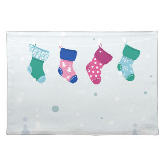 WINTER SOCKS handdrawn Illustrated edition Placemat