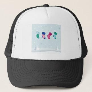 WINTER SOCKS handdrawn Illustrated edition Trucker Hat