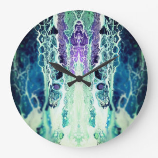 """Winter Solstice"" Abstract Art Clock"