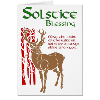 Winter Solstice Blessing Card