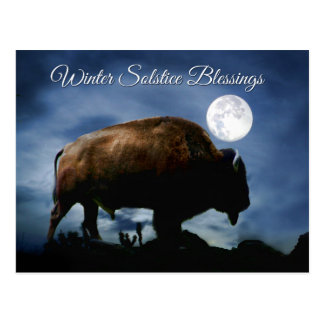 Winter Solstice Blessings Buffalo Postcards