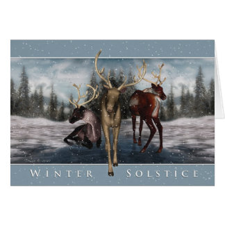 Winter Solstice - Deer Winter Scene Card