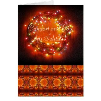 Winter Solstice Faery Lights Wreath Card
