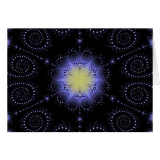 Winter Solstice Fractal Card