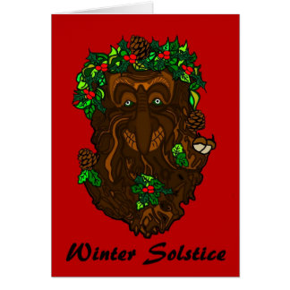 Winter Solstice Greenman Card