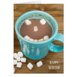 winter solstice hot cocoa drink card