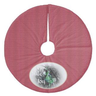 Winter Solstice Mistletoe Yule Christmas Fleece Tree Skirt