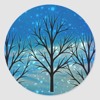 Winter Solstice Party Invitation Envelope Sticker