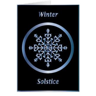Winter Solstice Snowflake Moon Card