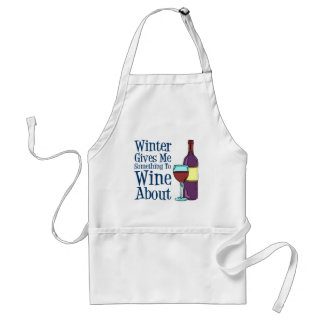 Winter Something To Wine About Apron