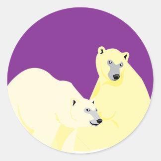 Winter Soul Purple Sticker